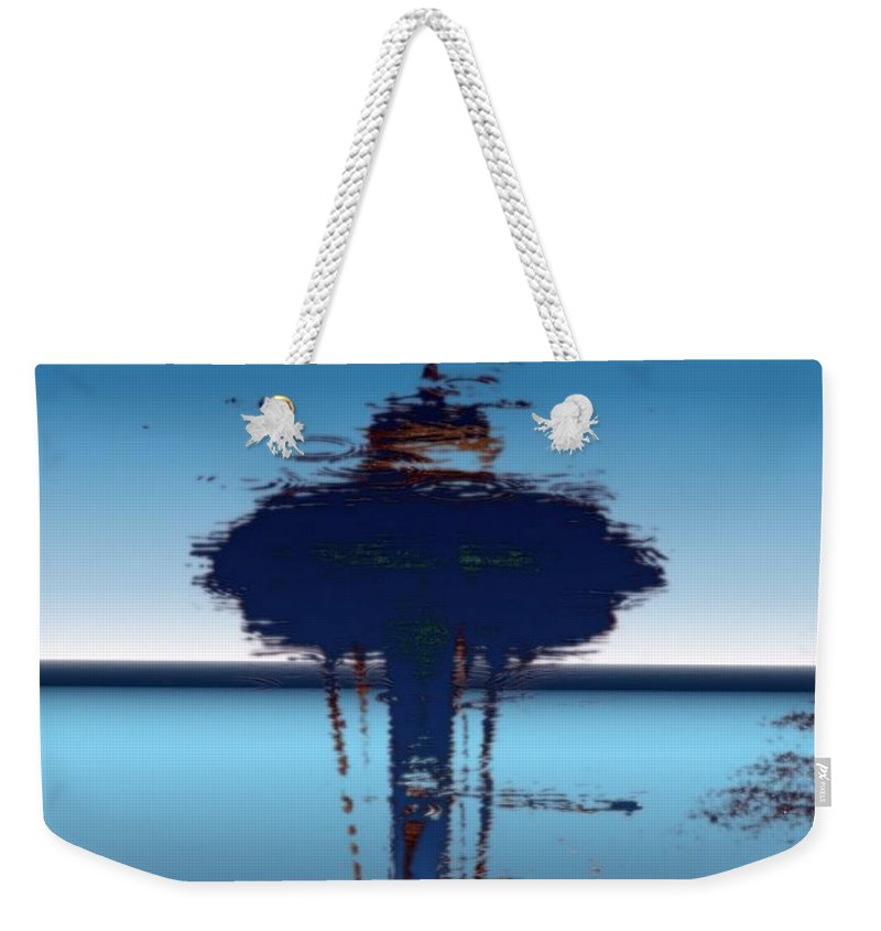 Seattle Weekender Tote Bag featuring the digital art Needle In A Raindrop Stack 4 by Tim Allen