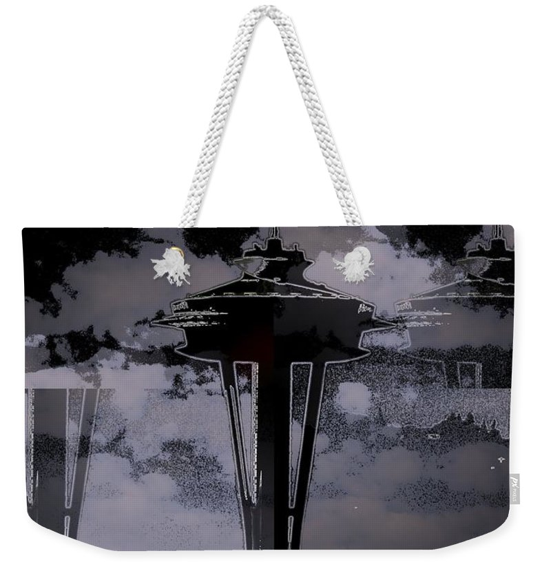 Seattle Weekender Tote Bag featuring the digital art Needle In Flux by Tim Allen