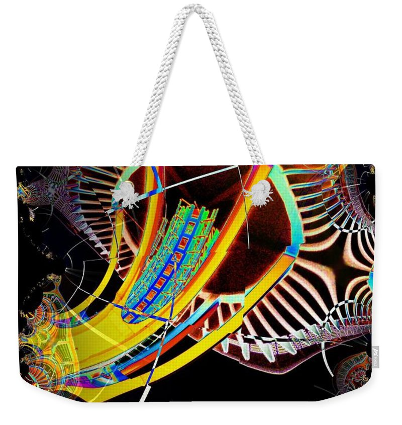 Seattle Weekender Tote Bag featuring the photograph Needle In Fractal 2 by Tim Allen