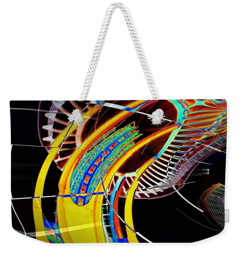Seattle Weekender Tote Bag featuring the photograph Needle In Fractal 4 by Tim Allen