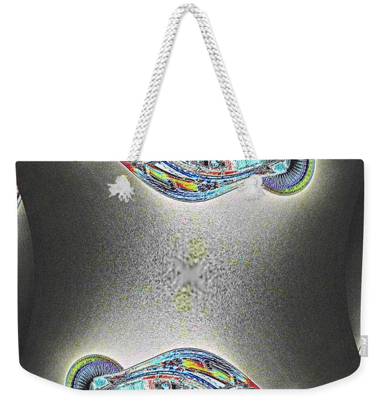 Seattle Weekender Tote Bag featuring the photograph Needle In Fractal by Tim Allen