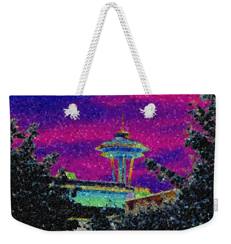 Seattle Weekender Tote Bag featuring the photograph Needle In Mosaic 2 by Tim Allen