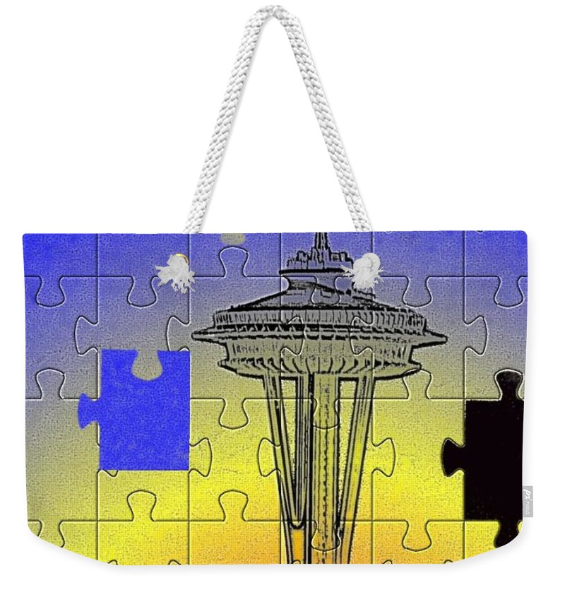 Seattle Weekender Tote Bag featuring the photograph Needle Jigsaw by Tim Allen