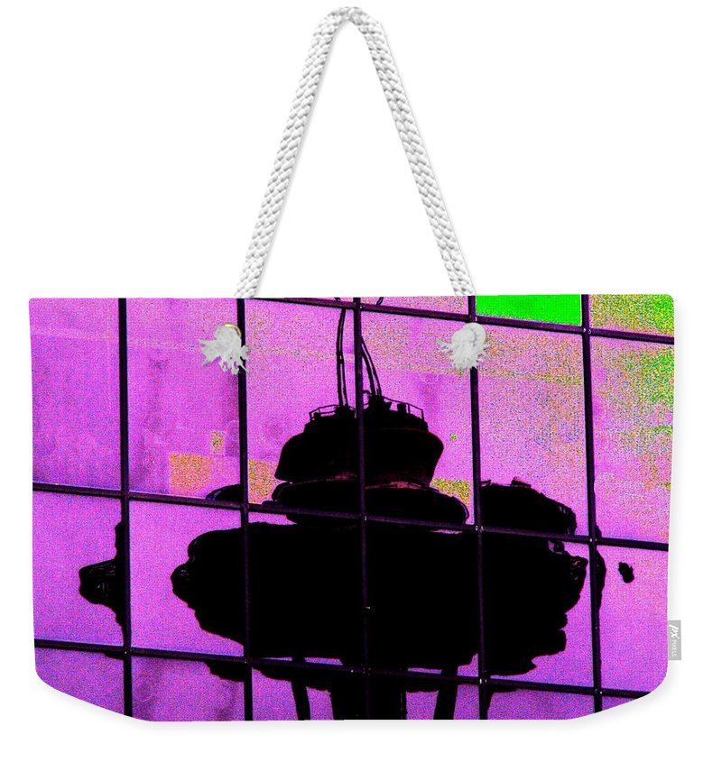 Seattle Weekender Tote Bag featuring the digital art Needle Reflect 2 by Tim Allen