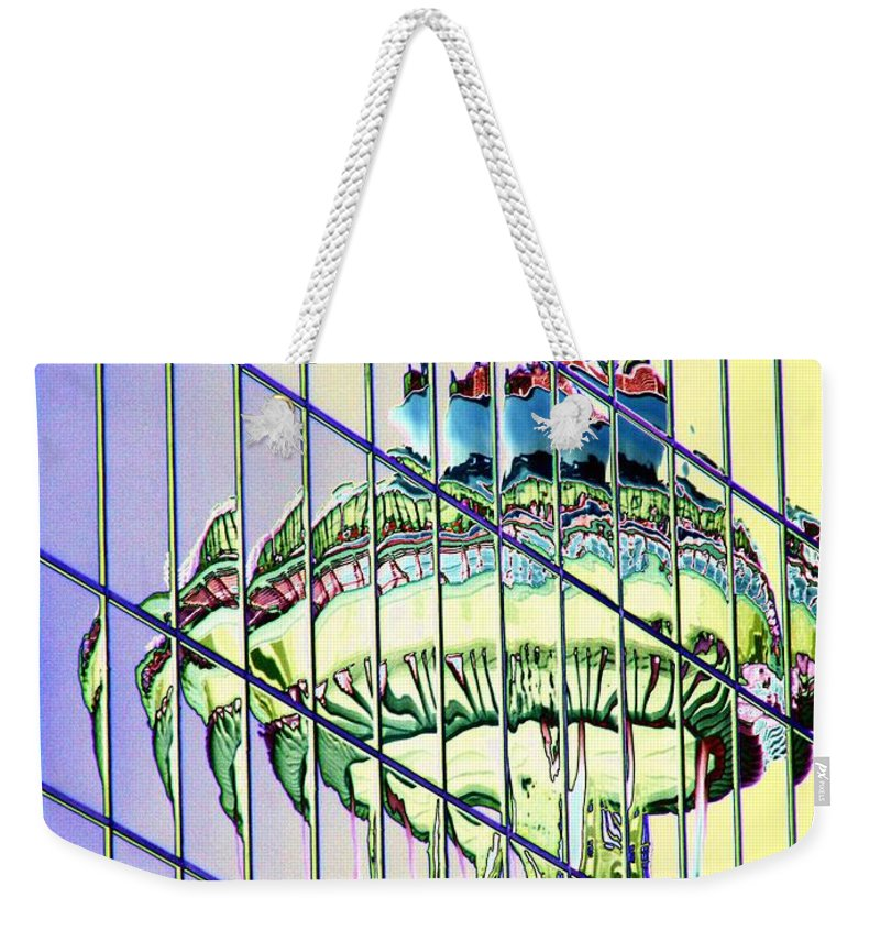 Seattle Weekender Tote Bag featuring the photograph Needle Reflection 2 by Tim Allen