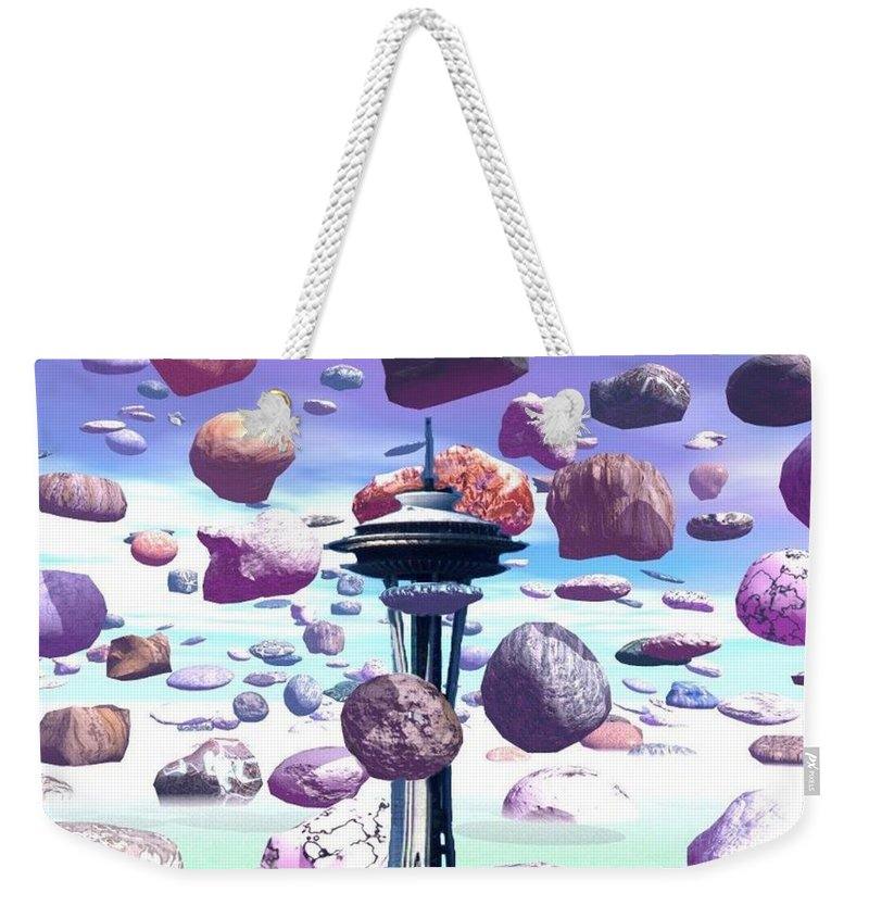 Seattle Weekender Tote Bag featuring the photograph Needle Rocks by Tim Allen