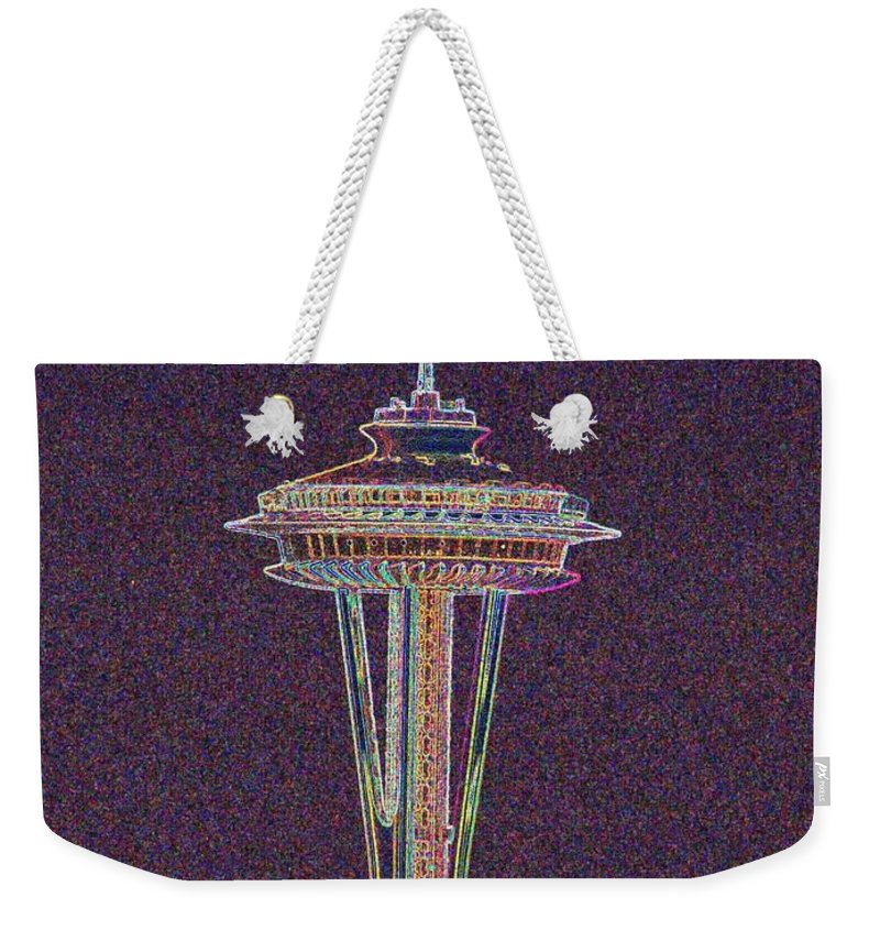 Seattle Weekender Tote Bag featuring the photograph Needle by Tim Allen