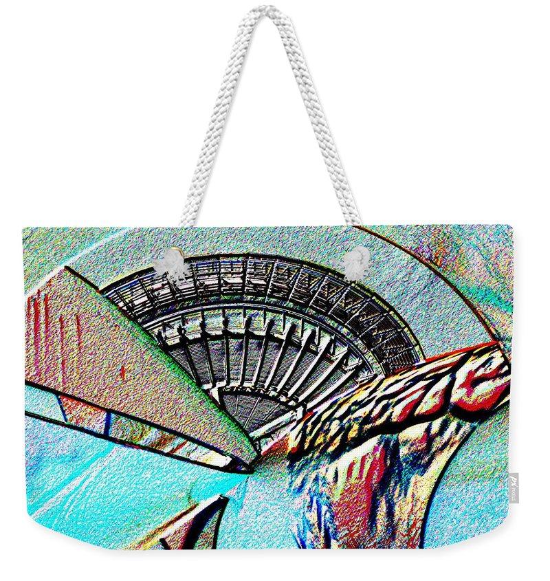 Seattle Weekender Tote Bag featuring the digital art Needle Tubes by Tim Allen