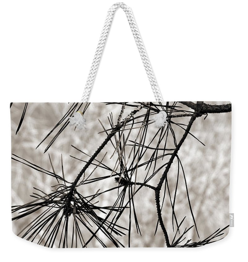 Tree Weekender Tote Bag featuring the photograph Needles Everywhere by Marilyn Hunt