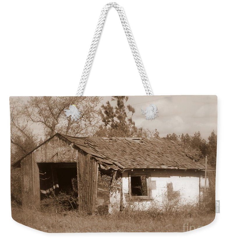 Old Shack Weekender Tote Bag featuring the photograph Needs Paint - Soft Focus by Carol Groenen