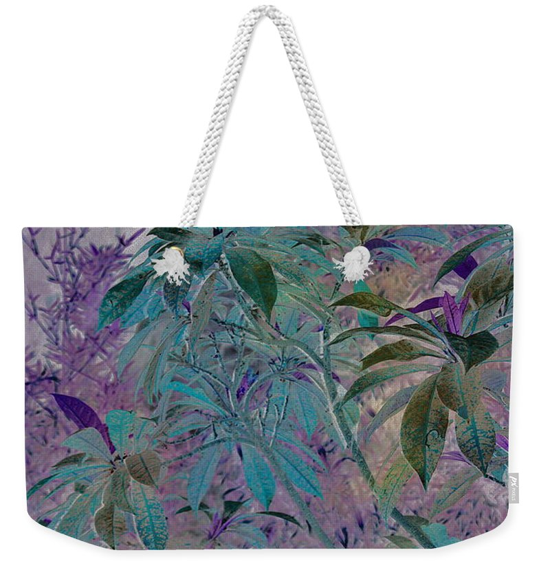 Assiniboine Park Conservatory Jungle Weekender Tote Bag featuring the photograph Negative Jungle by Joanne Smoley