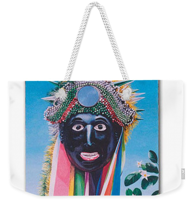 Michael Earney Weekender Tote Bag featuring the painting Negrito y flor de limon by Michael Earney