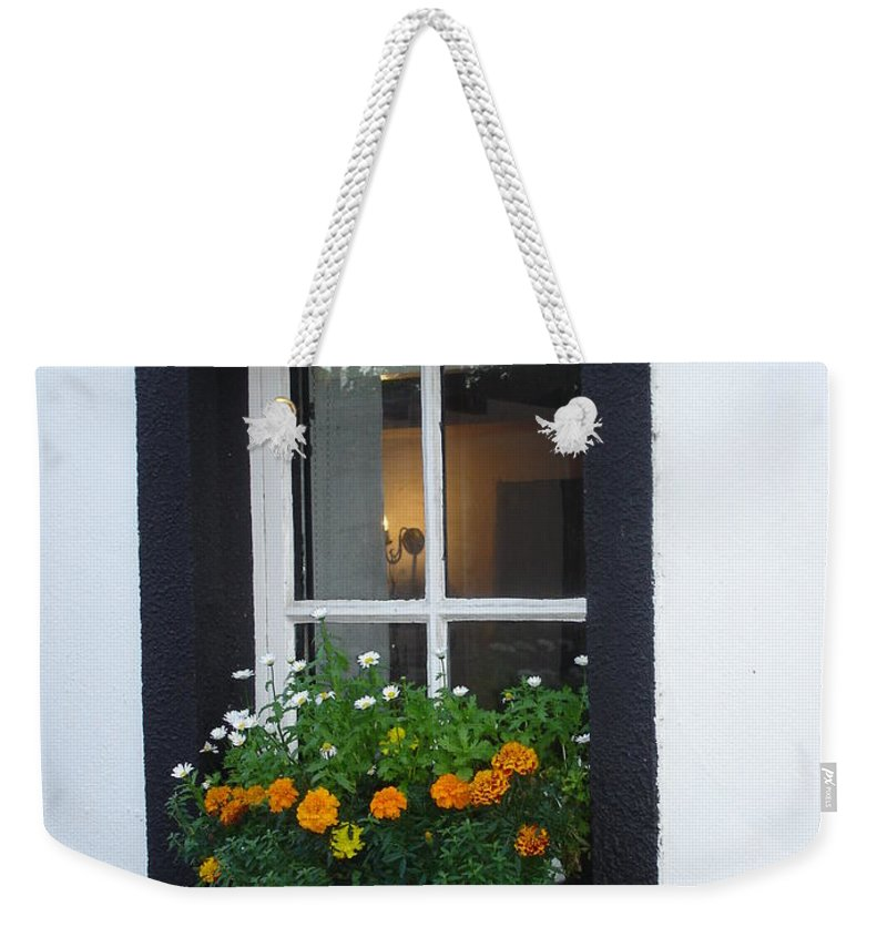 Window Weekender Tote Bag featuring the photograph Neighbor by Kelly Mezzapelle