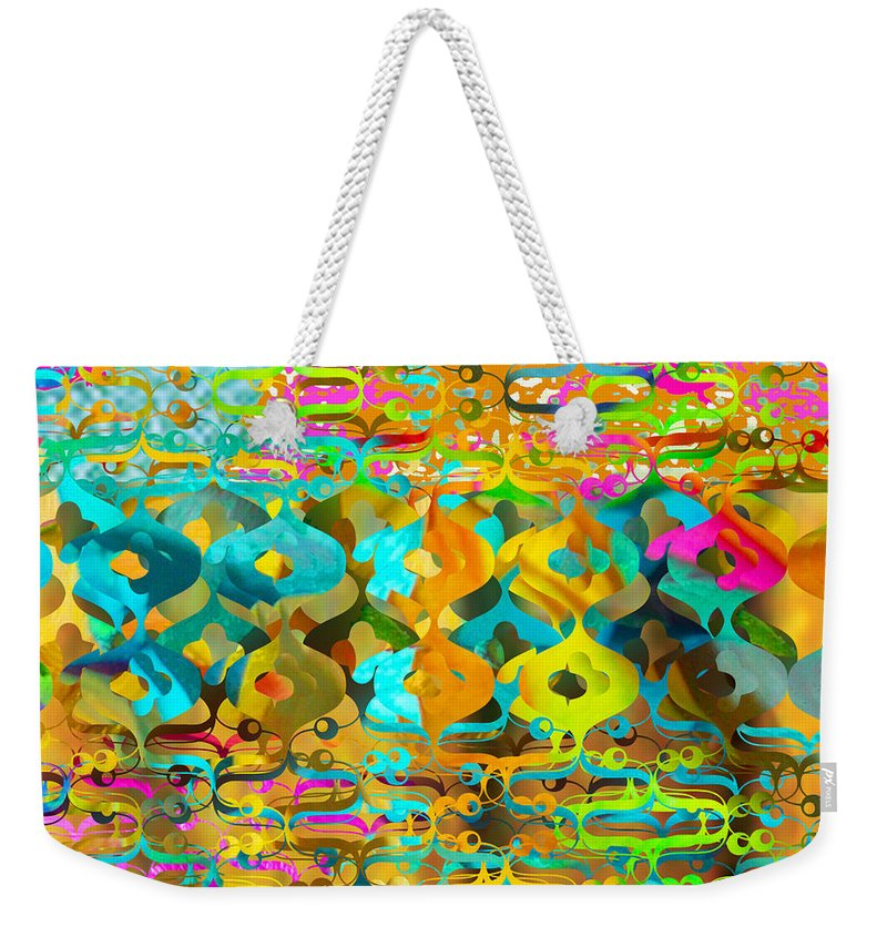 Abstract Weekender Tote Bag featuring the digital art Nemo by Ceil Diskin