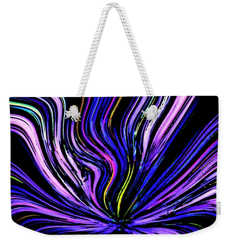 Abstract Digital Painting Weekender Tote Bag featuring the digital art Neon by David Lane