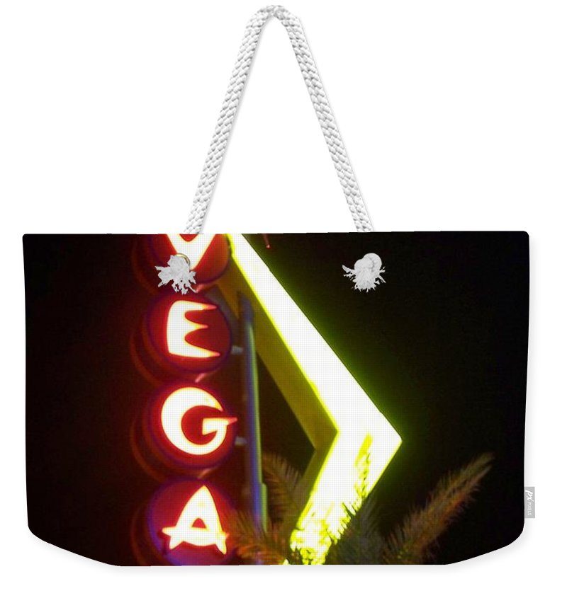 Fremont East Weekender Tote Bag featuring the photograph Neon Signs 2 by Anita Burgermeister