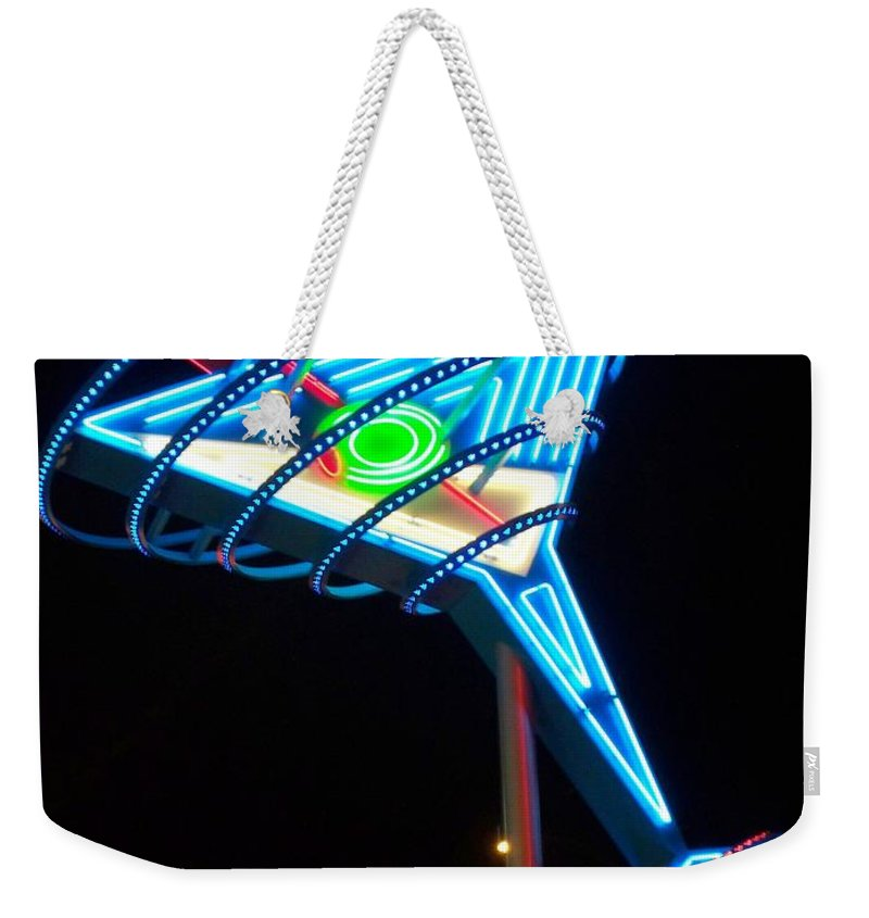 Fremont East Weekender Tote Bag featuring the photograph Neon Signs 4 by Anita Burgermeister