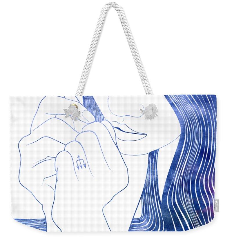Selkie Weekender Tote Bag featuring the digital art Nereid Xxix by Stevyn Llewellyn