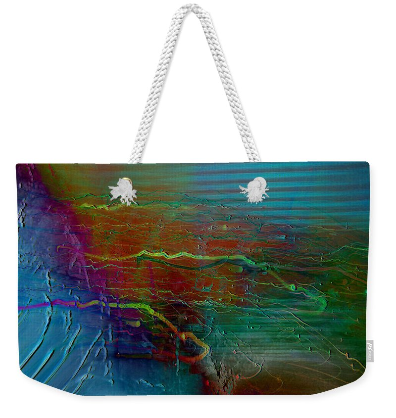 Abstarct Art Weekender Tote Bag featuring the digital art Nerve Impulses by Linda Sannuti