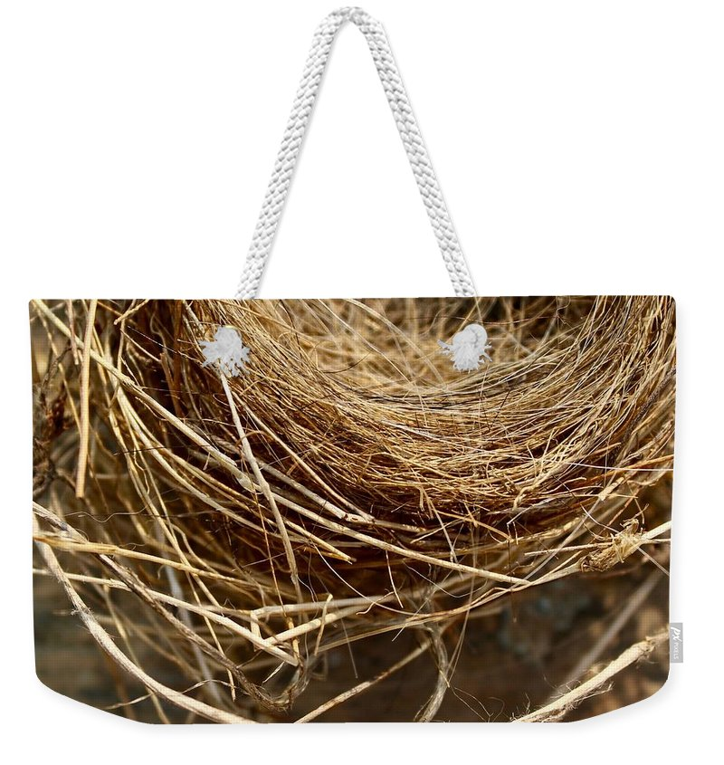 Nest Weekender Tote Bag featuring the photograph Nest 913 by Modern Art