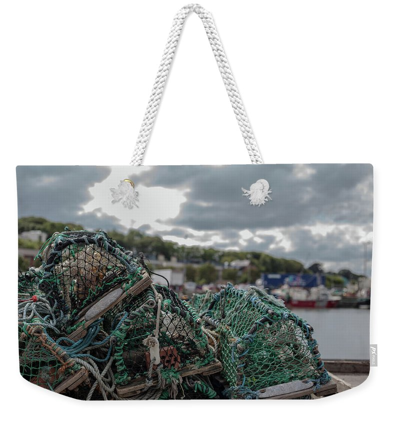 50mm Weekender Tote Bag featuring the photograph Net by Anton Lucic