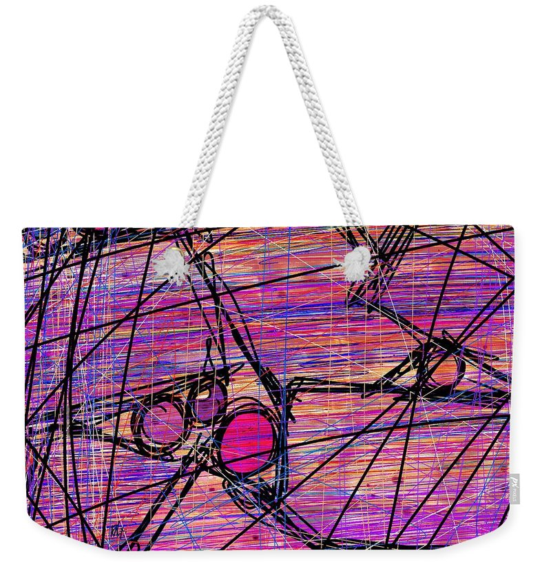 Abstract Weekender Tote Bag featuring the digital art Networking by Rachel Christine Nowicki