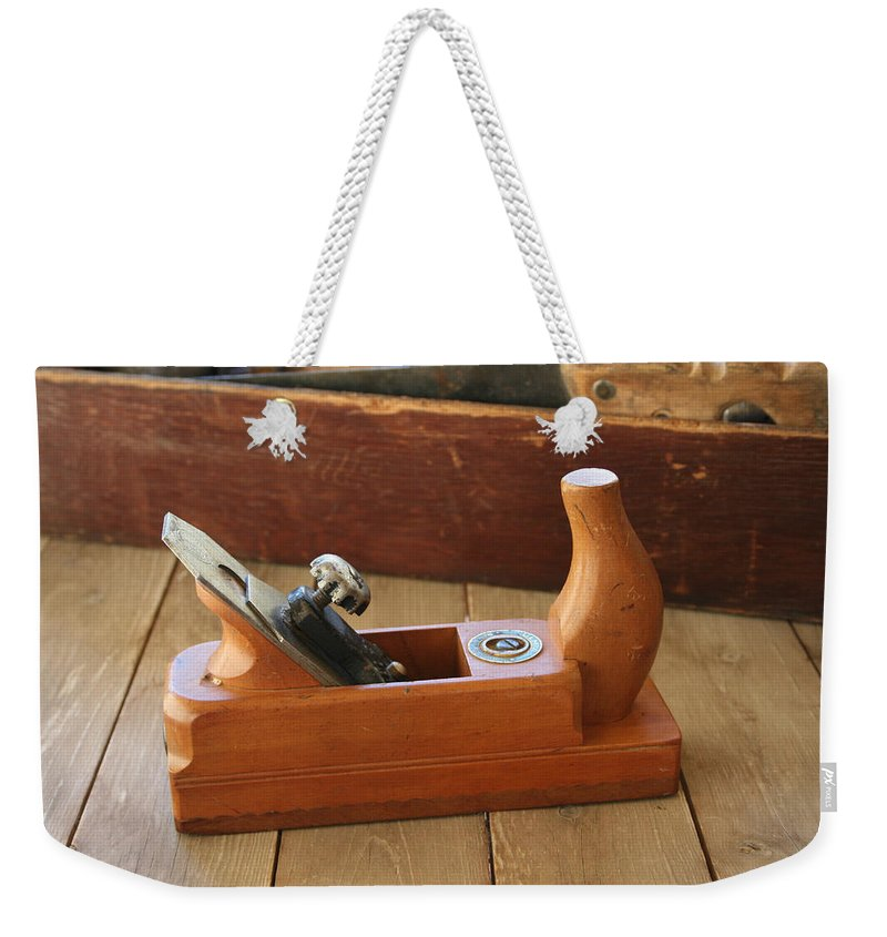 Tool Weekender Tote Bag featuring the photograph Neuenfeld Wood Plane by Marna Edwards Flavell