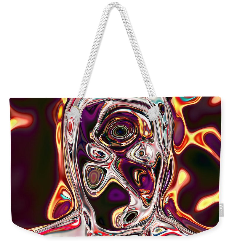 Weekender Tote Bag featuring the digital art Neural Abstraction #17 by Evgeniy Babkin