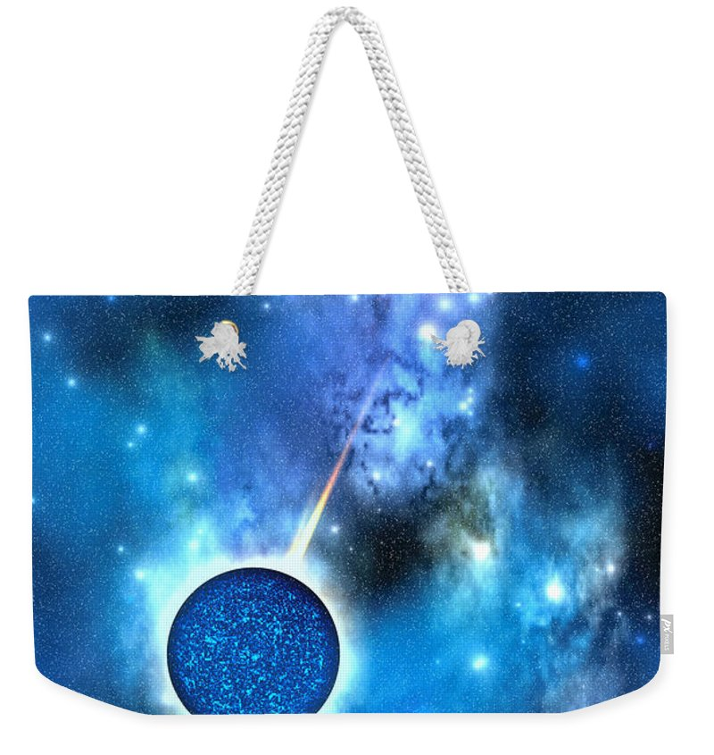 Neutron Star Weekender Tote Bag featuring the painting Neutron Star by Corey Ford