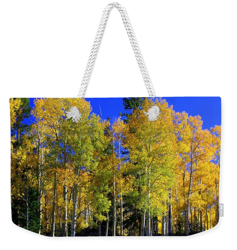 Fall Colors Weekender Tote Bag featuring the photograph Nevada Fall by Marty Koch