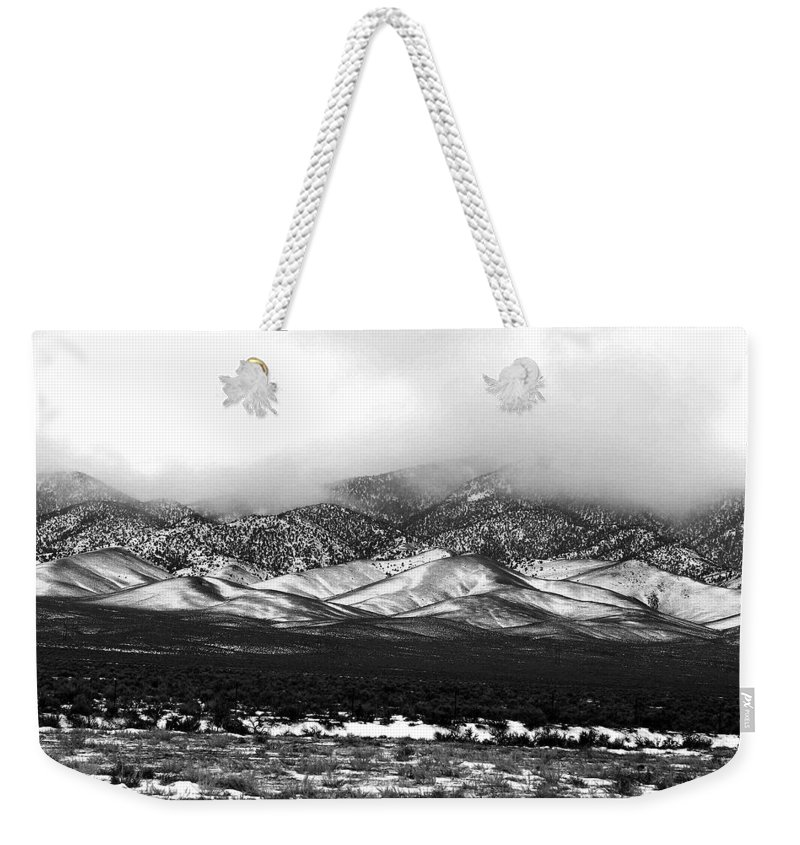 Snow Weekender Tote Bag featuring the photograph Nevada Snow by Nelson Strong