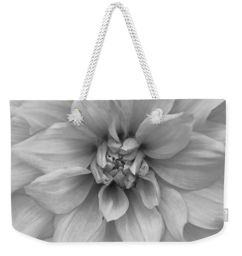 Dahlia Weekender Tote Bag featuring the photograph Never A Mistress by Michiale Schneider