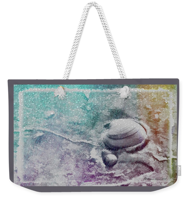 Shell Weekender Tote Bag featuring the digital art Never Clam Up by Marvin Spates