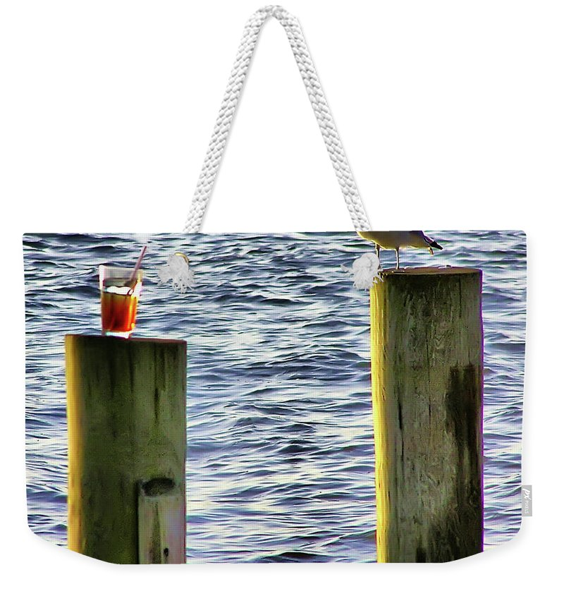 2d Weekender Tote Bag featuring the photograph Never Drink And Fly by Brian Wallace