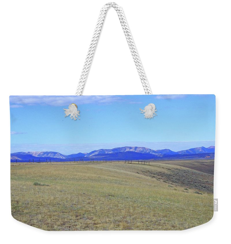 Wyoming Weekender Tote Bag featuring the photograph Never Ending by Mike and Sharon Mathews