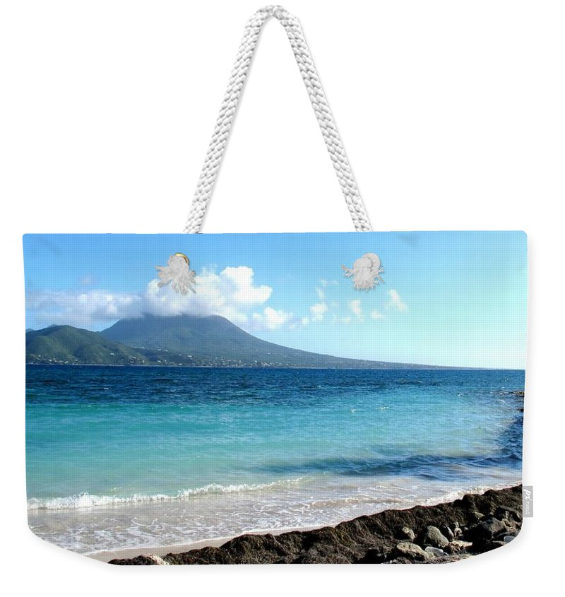 Nevis Weekender Tote Bag featuring the photograph Nevis Across The Channel by Ian MacDonald