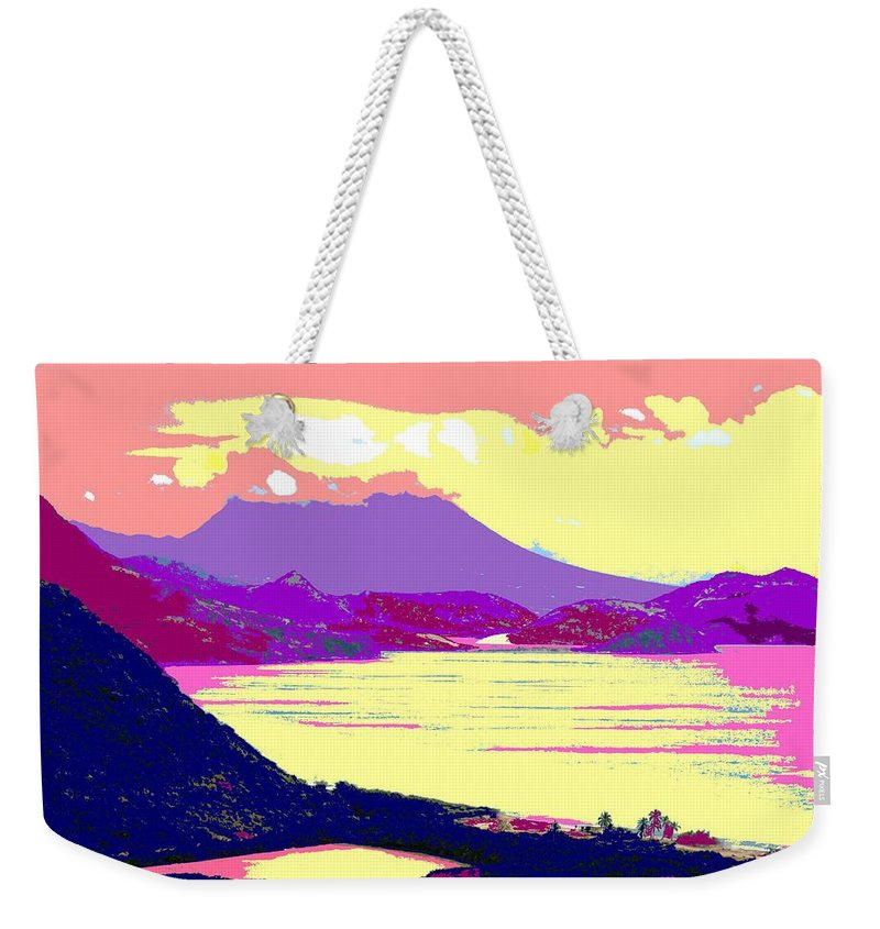 Nevis Weekender Tote Bag featuring the photograph Nevis From The Penninsula by Ian MacDonald