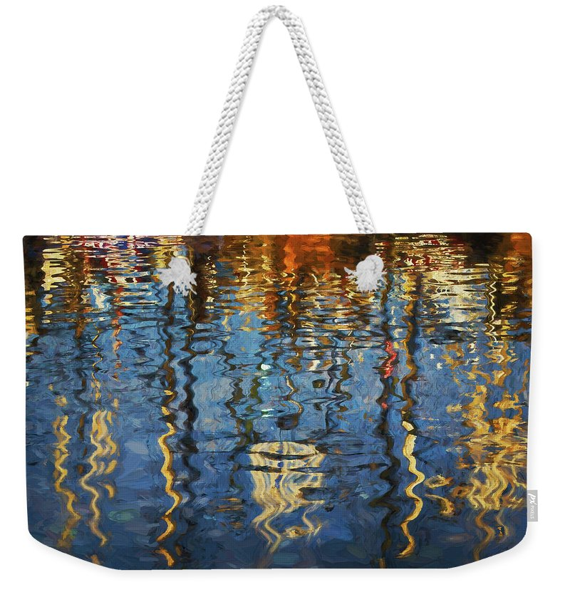 New Bedford Weekender Tote Bag featuring the photograph New Bedford Waterfront No. 5 by David Gordon