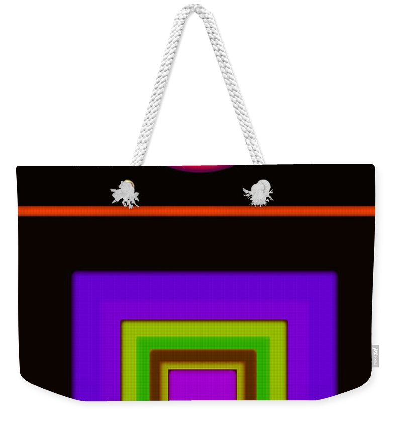 Classical Weekender Tote Bag featuring the digital art New Black Classic by Charles Stuart