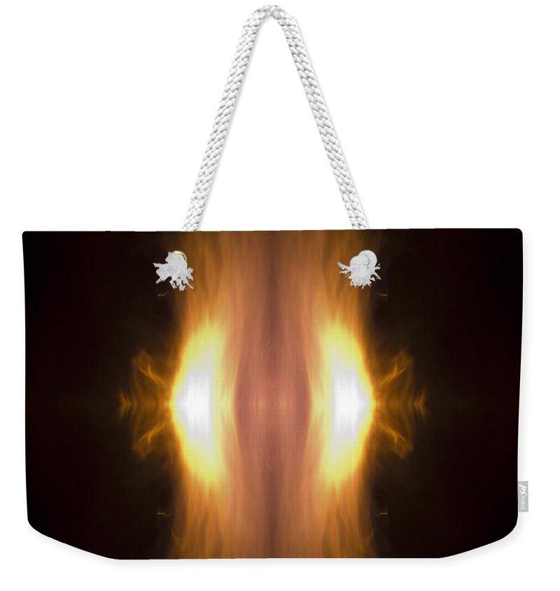 Flame Weekender Tote Bag featuring the photograph New Born by Munir Alawi