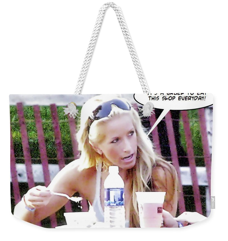 2d Weekender Tote Bag featuring the photograph New Diet by Brian Wallace