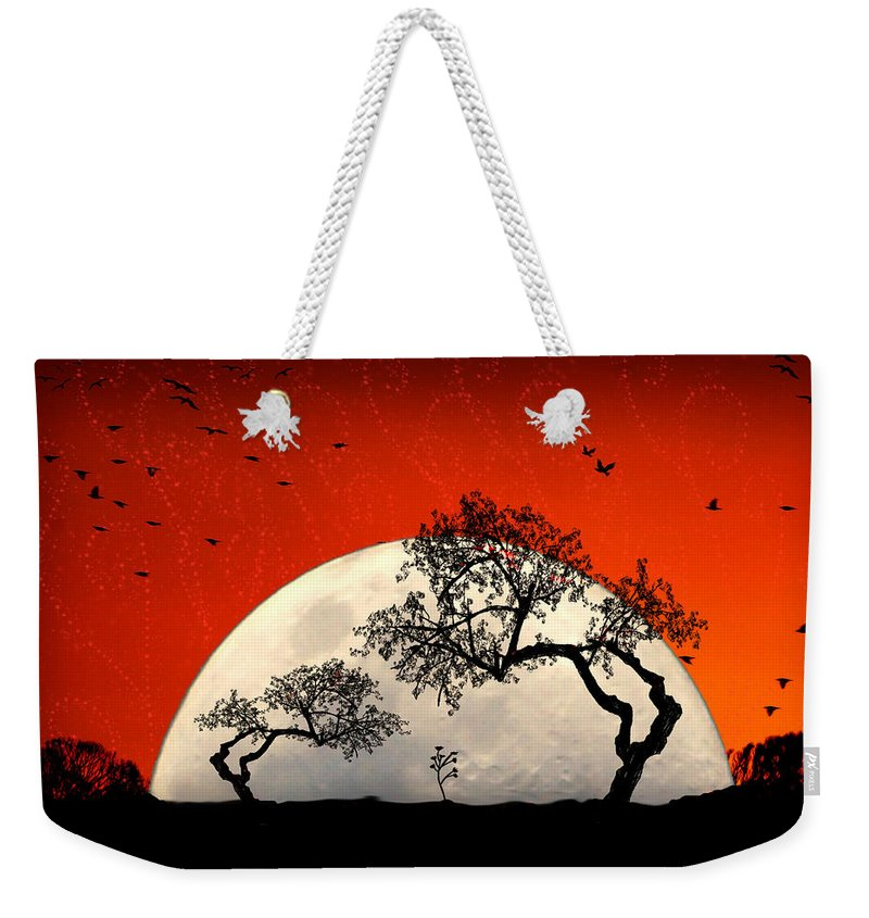 Moon Weekender Tote Bag featuring the digital art New Growth New Hope by Holly Kempe