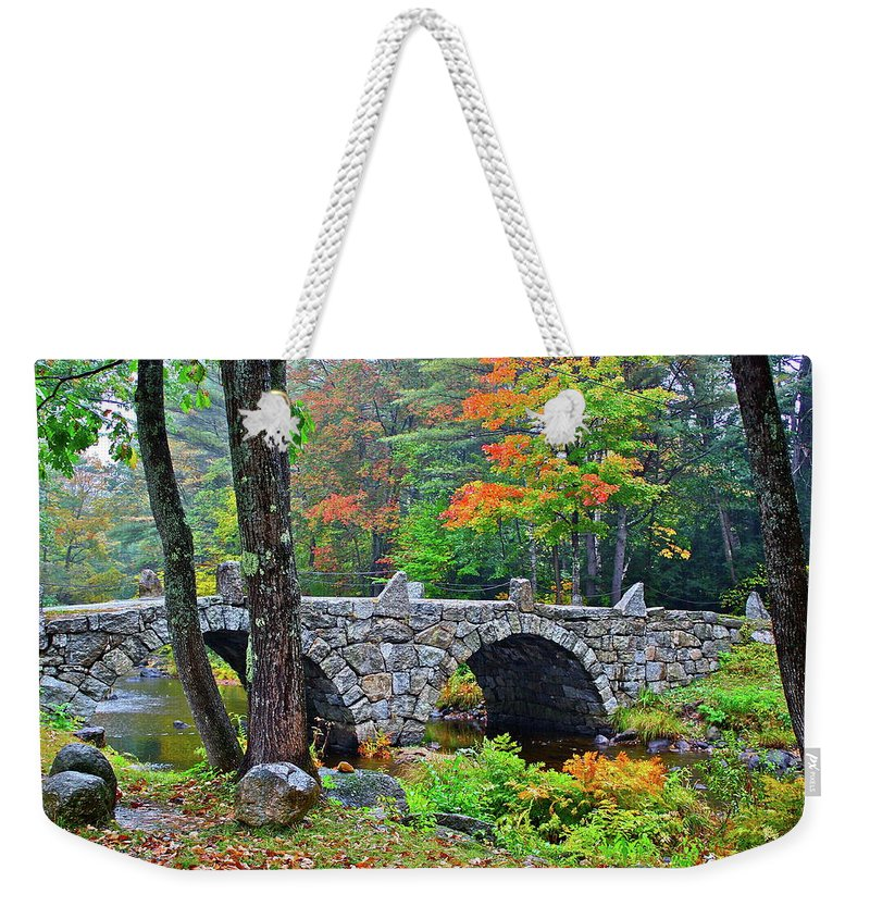Bridge Weekender Tote Bag featuring the photograph New Hampshire Bridge by Diana Hatcher