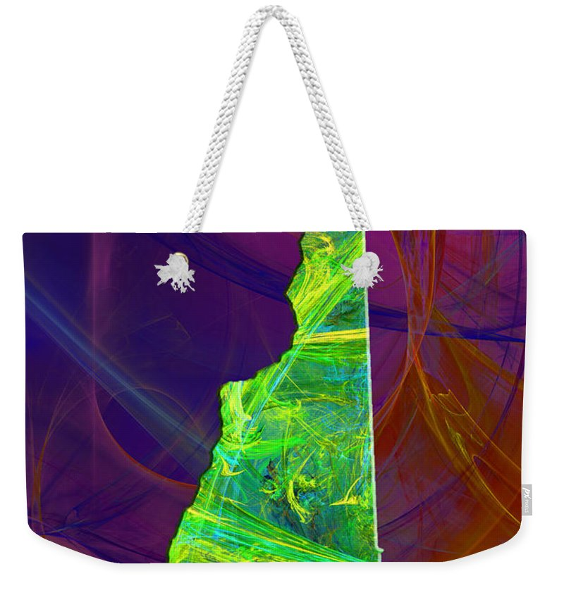 New Hampshire Weekender Tote Bag featuring the painting New Hampshire Map by Roger Wedegis