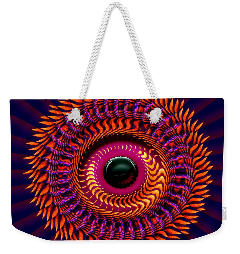 Sun Weekender Tote Bag featuring the digital art New Horizon by Robert Orinski