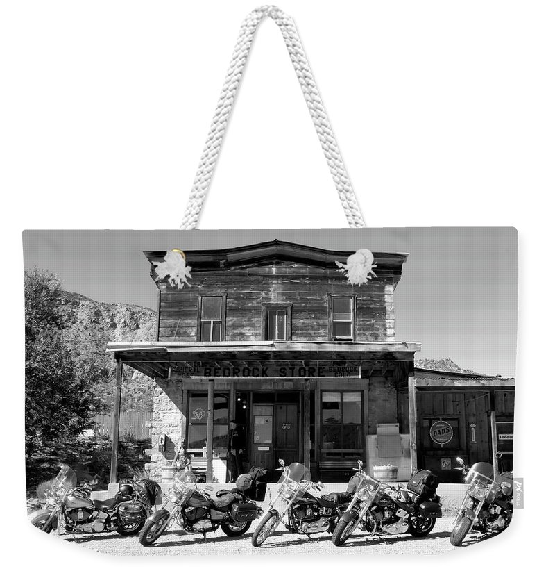 Fine Art Photography Weekender Tote Bag featuring the photograph New Horses At Bedrock by David Lee Thompson