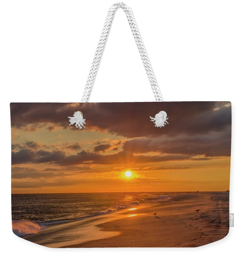New Weekender Tote Bag featuring the photograph New Jersey Has The Best Sunsets - Cape May by Bill Cannon