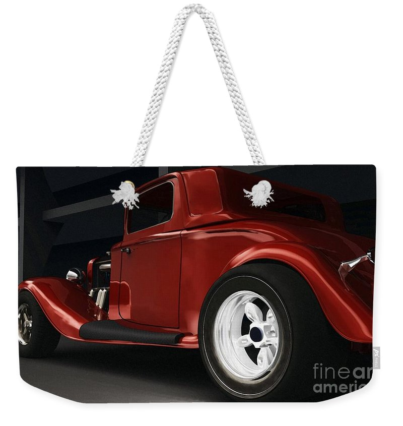 Street Rods Weekender Tote Bag featuring the digital art New Kid In Town by Richard Rizzo