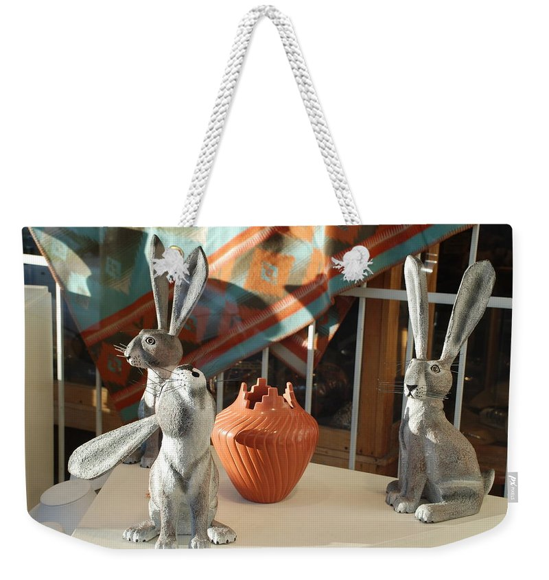 Rabbits Weekender Tote Bag featuring the photograph New Mexico Rabbits by Rob Hans