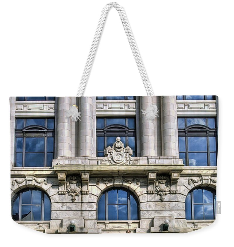 New Orleans Weekender Tote Bag featuring the photograph New Orleans Court Building by Tammy Wetzel